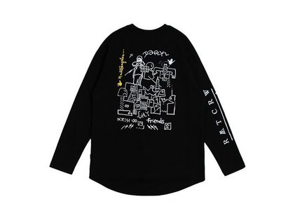 ROMANTIC CROWN Long Sleeve Unisex Street Style Collaboration Long Sleeves 15