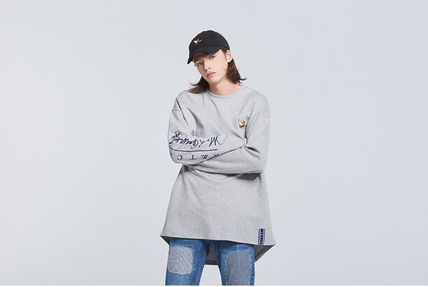 ROMANTIC CROWN Long Sleeve Unisex Street Style Collaboration Long Sleeves 16