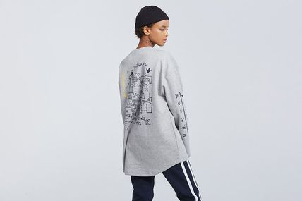 ROMANTIC CROWN Long Sleeve Unisex Street Style Collaboration Long Sleeves 17