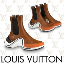 Louis Vuitton MONOGRAM Monogram Plain Toe Rubber Sole Casual Style Street Style