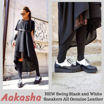 Aakasha Platform Casual Style Plain Leather