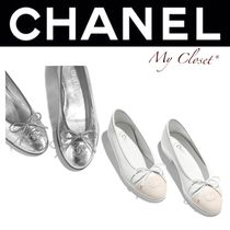 CHANEL ICON Street Style Plain Ballet Shoes