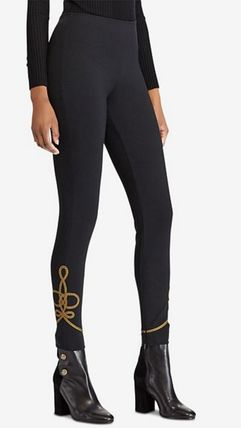 POLO RALPH LAUREN Street Style Plain Long With Jewels Elegant Style Bottoms