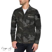 REPLAY Camouflage Long Sleeves Shirts