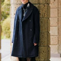 HERMES Plain Peacoats Coats