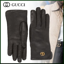 GUCCI Unisex Street Style Plain Leather