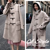 Plain Long Duffle Coats