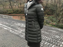 MONCLER Blended Fabrics Plain Long Down Jackets