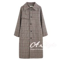 Stand Collar Coats Glen Patterns Other Check Patterns
