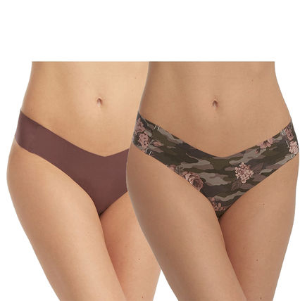 Flower Patterns Nylon Plain Underwear