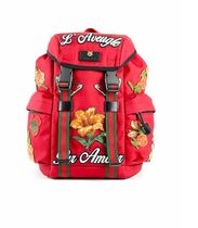 GUCCI Flower Patterns Unisex Street Style A4 Backpacks