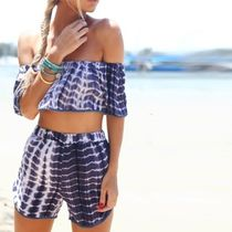 Tie-dye Fringes Beach Cover-Ups