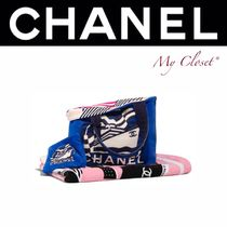 CHANEL ICON Stripes Tropical Patterns Casual Style Street Style Totes