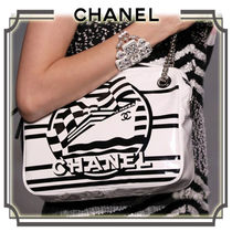 CHANEL 2WAY Chain PVC Clothing Elegant Style Shoulder Bags
