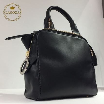 Calfskin 3WAY Elegant Style Shoulder Bags