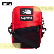 Supreme Unisex Street Style Leather Messenger & Shoulder Bags