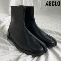 ASCLO Unisex Street Style Plain Leather Handmade Boots