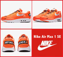 Nike AIR MAX 1 Street Style Leather Sneakers