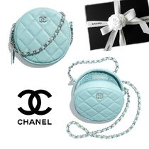 CHANEL MATELASSE Lambskin Party Style Shoulder Bags