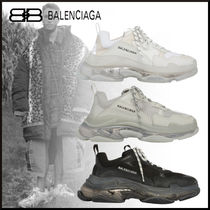 BALENCIAGA Triple S Unisex Blended Fabrics Street Style Sneakers