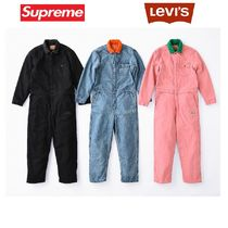 Supreme Unisex Street Style Collaboration Top-bottom sets
