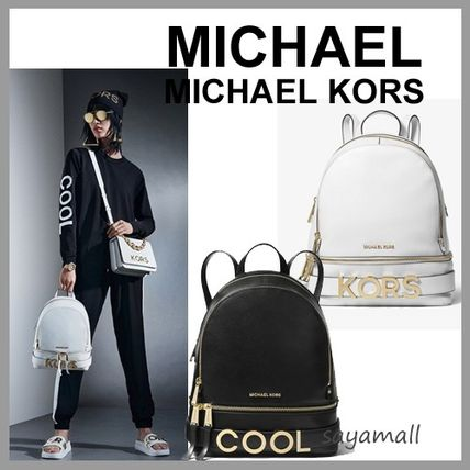 17064838ba1f ... Michael Kors Backpacks Casual Style Street Style 2WAY Plain Leather  Backpacks ...