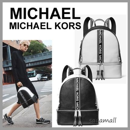 b3898435d427 ... Michael Kors Backpacks Casual Style Street Style 2WAY Bi-color Plain  Leather ...