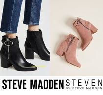 Steve Madden Suede Plain Elegant Style Ankle & Booties Boots