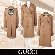 GUCCI Other Animal Patterns Long Trench Coats