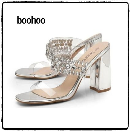 Open Toe Plain Block Heels Home Party Ideas With Jewels
