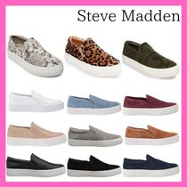 Steve Madden Camouflage Round Toe Casual Style Unisex Suede Street Style
