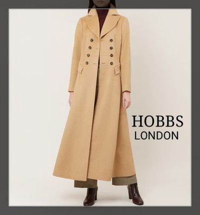 Wool Plain Long Elegant Style Coats