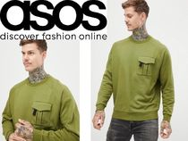 ASOS Crew Neck Pullovers Street Style Long Sleeves Plain Cotton