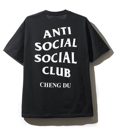 ANTI SOCIAL SOCIAL CLUB Crew Neck Crew Neck Unisex Street Style Plain Cotton Short Sleeves 2