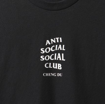ANTI SOCIAL SOCIAL CLUB Crew Neck Crew Neck Unisex Street Style Plain Cotton Short Sleeves 4