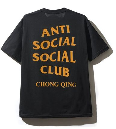 ANTI SOCIAL SOCIAL CLUB Crew Neck Crew Neck Unisex Street Style Plain Cotton Short Sleeves 5