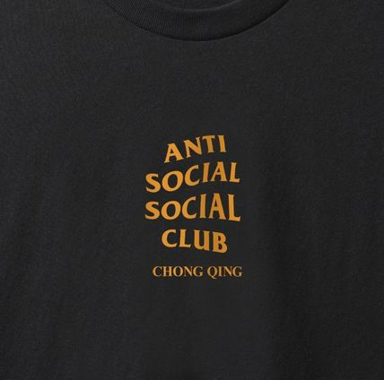 ANTI SOCIAL SOCIAL CLUB Crew Neck Crew Neck Unisex Street Style Plain Cotton Short Sleeves 7