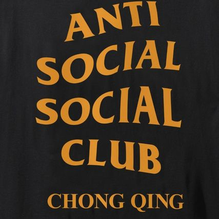 ANTI SOCIAL SOCIAL CLUB Crew Neck Crew Neck Unisex Street Style Plain Cotton Short Sleeves 8