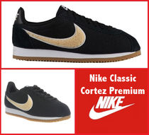 Nike CORTEZ Rubber Sole Lace-up Casual Style Street Style Leather