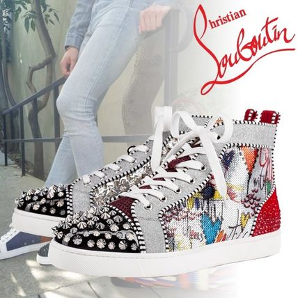 0d73d3b00e5 ... Christian Louboutin Sneakers Heart Straight Tip Studded Sneakers ...