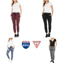 Guess Casual Style Unisex Street Style Plain Bottoms