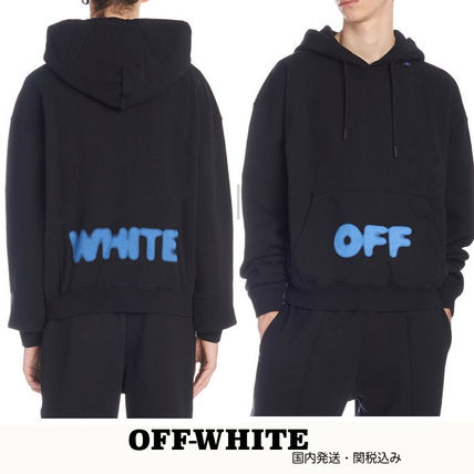 8053a770b20bf ... Off-White Hoodies Street Style Long Sleeves Plain Cotton Oversized  Hoodies ...