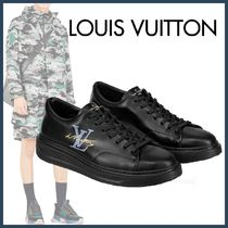 Louis Vuitton Blended Fabrics Street Style Plain Leather Sneakers