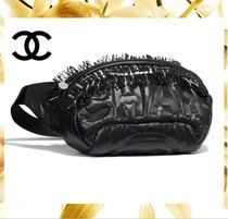 CHANEL Casual Style Nylon Blended Fabrics Plain Bags
