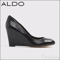 ALDO [ALDO] Leather Wedge Heel Pumps - Leyni