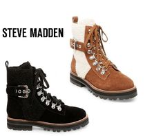 Steve Madden Mountain Boots Rubber Sole Casual Style Suede