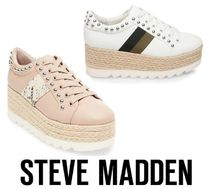 Steve Madden Platform Round Toe Casual Style Plain