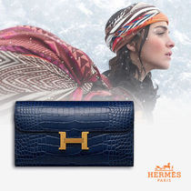 HERMES CONSTANCE Crocodile Other Animal Patterns Long Wallets