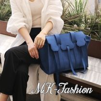 Casual Style Suede A4 2WAY Plain Handbags