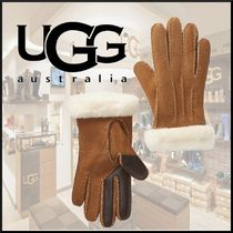 UGG Australia Casual Style Unisex Wool Plain Smartphone Use Gloves